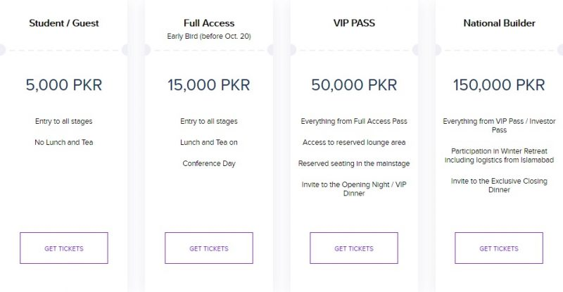 Startup Grind Pakistan Conference 2019 ticket prices